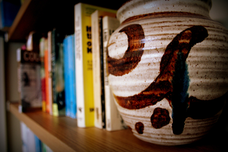 books vase